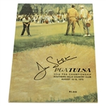 Dave Stockton Signed 1970 PGA Championship at Southern Hills Official Program JSA ALOA