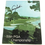 Lanny Wadkins Signed 1977 PGA Championship at Pebble Beach Official Program JSA ALOA
