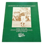 Multi-Signed 1978 Legends of Golf Tournament Program - Signed by All Photos JSA ALOA