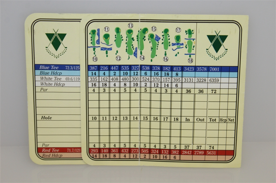 Tiger Woods Signed 1996 College Victory Riverside Country Club Scorecard JSA FULL #Z71546