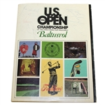1980 US Open Program Signed by Winner Nicklaus, Palmer, Seve, & Others JSA ALOA