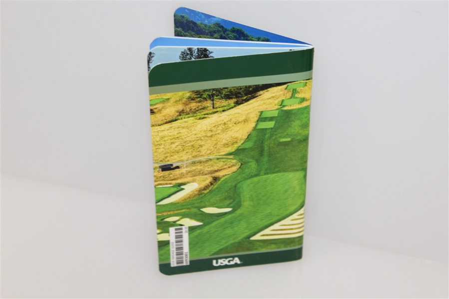 Dustin Johnson Signed 2016 US Open at Oakmont Yardage Guide JSA #T76566