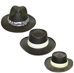 Three Don Cherry Personal Kangol Wide Strap Black Golf Hats - Blue, White, & Cream