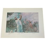 Sam Snead Signed Ltd Ed #3 Personalized Print - Also Signed by Artist Spitzmiller JSA ALOA