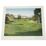 Steve Elkington Signed Riviera Country Club Artist Proof - Also Signed by Artist Baxter JSA ALOA