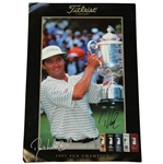 Davis Love III Signed 1997 PGA Champion Titleist Advertising Poster JSA ALOA