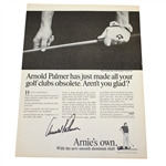 Arnold Palmer Signed Arnies Own Advertising Magazine Page JSA ALOA