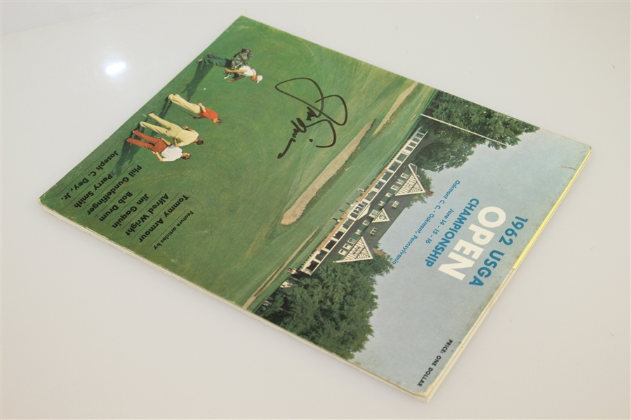 Jack Nicklaus Signed 1962 US Open at Oakmont CC Program - First Major Win JSA ALOA