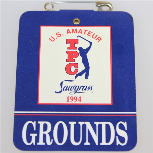 1994 US Amateur Championships Grounds Badge - Woods 1st US Amateur Win