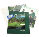 Tiger Woods Signed 1997 Masters Journal with Media Badge, Players Guide, & Media Guide JSA FULL #Z93120