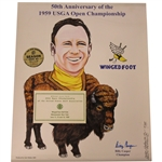 Billy Casper Signed 50th Anniversary of 1959 US Open at Winged Foot Poster JSA ALOA