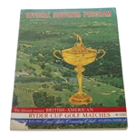 1963 Ryder Cup at East Lake Program
