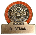 Deane Bemans 1995 US Senior Open Championship Contestant Badge