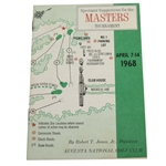 1968 Masters Tournament Spectator Guide - Bob Goalby Winner