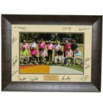 Multi-Signed 2017 Insperity Invitational Greats of Golf Pictures - Framed JSA ALOA
