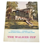 Deane Bemans 1965 The Walker Cup at Baltimore CC Official Program