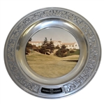 1981 The Riviera Invitational Tournament Commemorative Pewter Plate with Photo