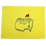 Jack Burke Signed Undated Masters Embroidered Flag with 56 Notation BECKETT #E66212