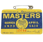 1973 Masters Tournament Series Badge #15744 - Tommy Aaron Winner