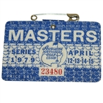 1979 Masters Tournament Series Badge #23480 - Fuzzy Zoeller Winner