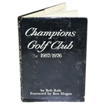 Jack Burke Signed Champions Club Book to Don Cherry with Burke Forging Demaret Sig JSA ALOA