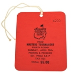 1949 Masters Tournament Sunday Ticket #4200 - Sam Snead Winner - Mint