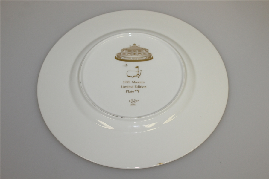 1995 Masters Tournament Lenox Limited Edition Member Plate #7