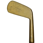 The Spalding Large Face Blade Brass Putter
