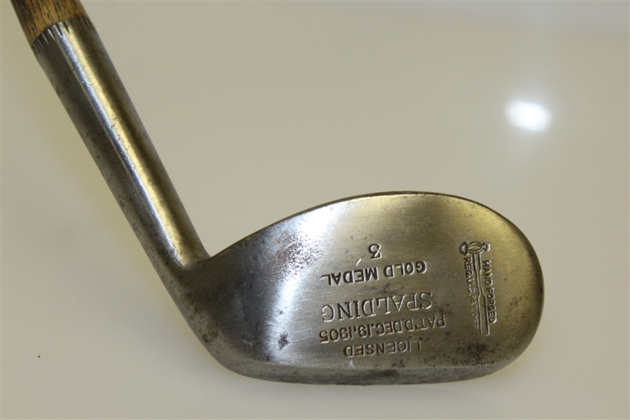 Spalding Concave Face Gold Medal Mashie 3 - Pat Dec. 19, 1905 with Shaft Stamp