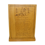 To Gladys Cosgrove Poem Carved on Wood by Johannesen