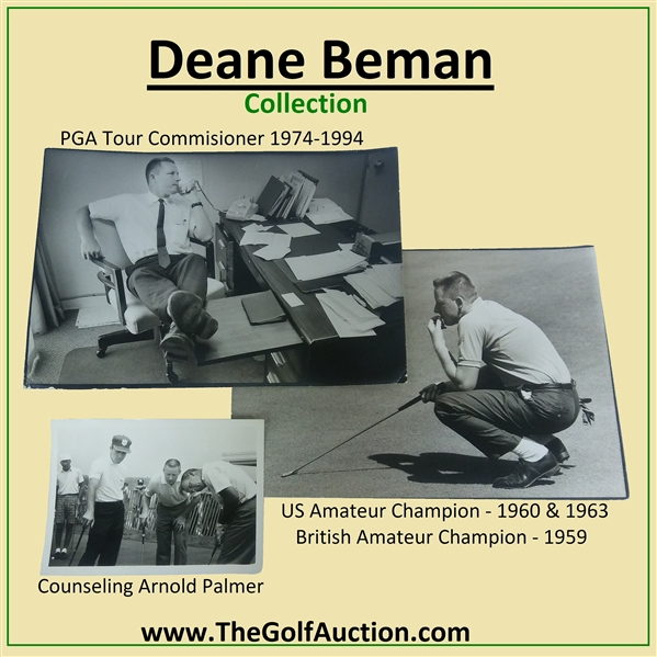 Deane Beman's 1960 Masters Tournament Friday Pairing Sheet - Arnold Palmer Win