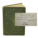 Lloyd Mangrum Signed & Personalized 1949 Golf: A New Approach Book JSA ALOA
