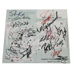 Multi-Signed 1997 Masters Spec Guide Including Zoeller, Mize, Coody, & Others JSA ALOA