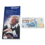 Jack Nicklaus Signed RBS 5lb Note & Signed RBS Sleeve JSA #R29697 & #R29696