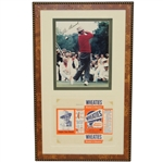 Sam Snead Signed Photo with 1951 Wheaties Cereal Box - Framed JSA ALOA