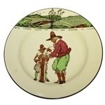 Royal Doulton Golf Plate Give Losers Leave To Speak, And Winners To Laugh