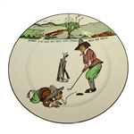 Royal Doulton Golf Plate Every Dog Has His Day, And Every Man His Hour