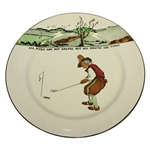 Royal Doulton Golf Plate All Knaves Are Not Fools, But All Knaves Are Fools