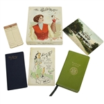 Two Rules of Golf Booklets, The Ri-Co Muffler, Wilson Hint Book, Postcard, & Score Book