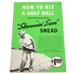 How To Hit A Golf Ball Booklet by Sam Snead JSA ALOA