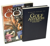 Olmans Guide to Golf Antiques by Olman & Antique Golf Collectibles by Furjanic
