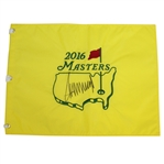 President Donald Trump Signed 2016 (The Year of Election) Masters Embroidered Flag JSA ALOA