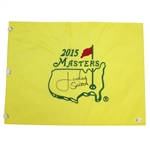 Jordan Spieth Signed 2015 Masters Embroidered Flag BECKETT #E04321
