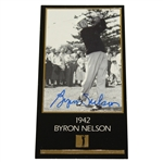 Byron Nelson Signed GSV Champions of Golf Masters Collection Card JSA ALOA