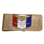 1964 Golf Magazines All America Enameled Recipients Money Clip