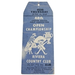 1948 US Open at Riviera Country Club Thursday Ticket #0698 - Hogans First of Record Four Open Wins !