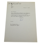 Arnold Palmer Signed Letter to Charles Price January 27, 1983 JSA ALOA