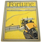 1930 Fortune Extra Large Booklet Vol II No. 3 - September Courier and Ives Bobby Jones FOLDOUT!