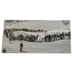 1937 Bobby Jones Putting at Augusta National Wire Photo - April 3rd