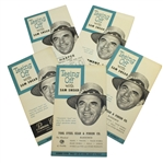 Five 1953 Teeing Off with Sam Snead Booklets